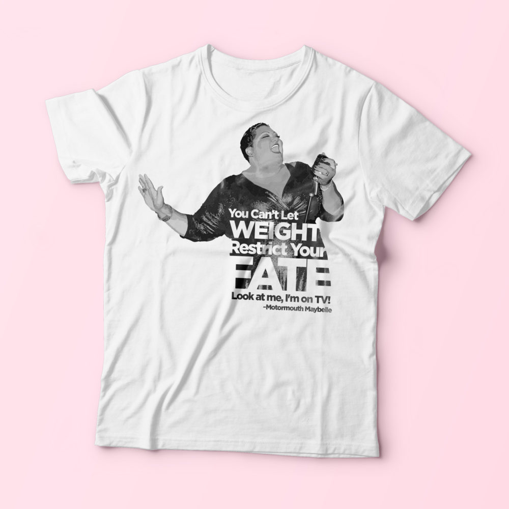 Can't Let Weight Restrict Your Fate – White